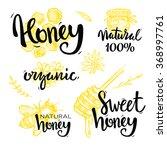 honey set   Shutterstock .eps vector #368997761