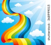 rainbow and clouds in the blue... | Shutterstock .eps vector #368999015