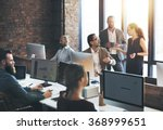 business team discussion... | Shutterstock . vector #368999651
