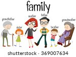 family members with three... | Shutterstock .eps vector #369007634