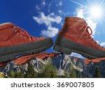 mountain climbing concept   a... | Shutterstock . vector #369007805