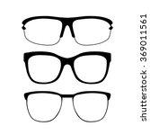 set of glasses vector