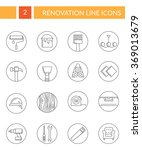 collection of renovation... | Shutterstock .eps vector #369013679