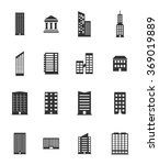 buildings black silhouette... | Shutterstock .eps vector #369019889