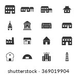 buildings black silhouette... | Shutterstock .eps vector #369019904
