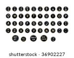 Vintage Typewriter Keys ...