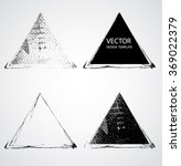 grunge triangle collection.... | Shutterstock .eps vector #369022379