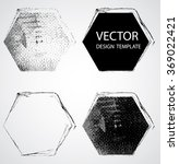 grunge hexagon collection.... | Shutterstock .eps vector #369022421