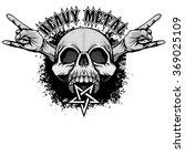 grunge skull coat of arms   Shutterstock .eps vector #369025109