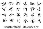 bamboo leaf silhouettes on the...