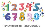 the numbers in fun in the style ... | Shutterstock .eps vector #369030077