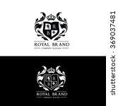 royal brand luxury crest logo... | Shutterstock .eps vector #369037481