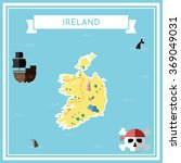 ireland flat treasure map.... | Shutterstock .eps vector #369049031