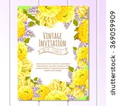 vintage delicate invitation... | Shutterstock .eps vector #369059909