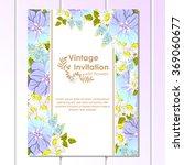 vintage delicate invitation...   Shutterstock .eps vector #369060677