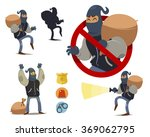 thief cartoon character. police ... | Shutterstock .eps vector #369062795