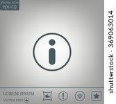 information sign icon  vector... | Shutterstock .eps vector #369063014