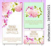 invitation with floral... | Shutterstock .eps vector #369066521