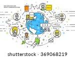 flat style  thin line art... | Shutterstock .eps vector #369068219