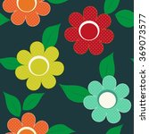 abstract flower seamless...   Shutterstock .eps vector #369073577