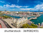 Aerial View Of The Port Vell I...