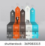 infographic template with... | Shutterstock .eps vector #369083315