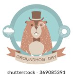 Happy Groundhog Day Label...