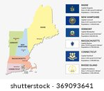 new england states map with