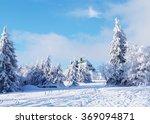 snowy mountain landscape | Shutterstock . vector #369094871