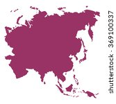 asia map vector | Shutterstock .eps vector #369100337
