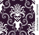 damask seamless background. in... | Shutterstock . vector #36910468
