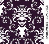 damask seamless background. in... | Shutterstock . vector #36910468