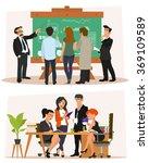 business characters scene.... | Shutterstock .eps vector #369109589