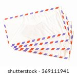 Small photo of Airmail letter envelope isolated over white background vintage