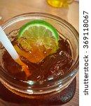 lemonade ice tea with lemon... | Shutterstock . vector #369118067