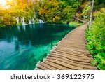 majestic view on turquoise... | Shutterstock . vector #369122975