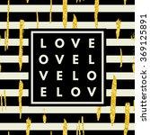 romantic love minimal logo in... | Shutterstock .eps vector #369125891