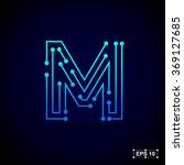 letter m logo design template... | Shutterstock .eps vector #369127685