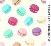 realistic macaroons colorful... | Shutterstock .eps vector #369134681