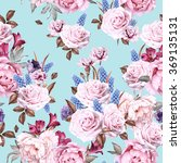 seamless floral pattern with... | Shutterstock . vector #369135131
