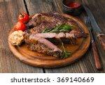 grilled ribeye steak marbled... | Shutterstock . vector #369140669