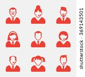business people avatar icons.... | Shutterstock .eps vector #369143501