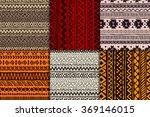 seamless aztec pattern set ... | Shutterstock .eps vector #369146015