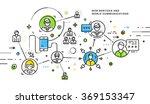 flat style  thin line art... | Shutterstock .eps vector #369153347