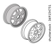 car parts wheel rims icons... | Shutterstock .eps vector #369154751