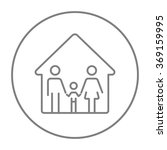 family house line icon. | Shutterstock .eps vector #369159995
