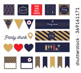 set of vector party decorative... | Shutterstock .eps vector #369161171