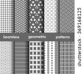 set of 6 monochrome seamless...   Shutterstock .eps vector #369168125