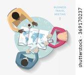 flat vector business travel... | Shutterstock .eps vector #369170237