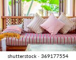 pillow on sofa decoration... | Shutterstock . vector #369177554